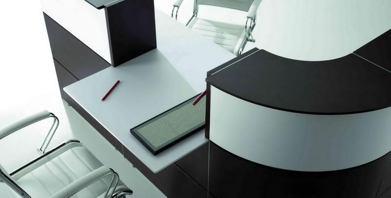 Mostradores de recepcion para minusvalidos for Muebles de oficina 28007