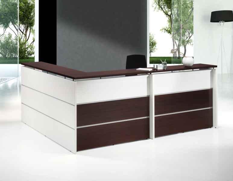 Mostradores de recepcion de madera for Muebles de oficina 28007