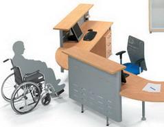 Mostradores de recepcion de madera economicos for Muebles de oficina 28007
